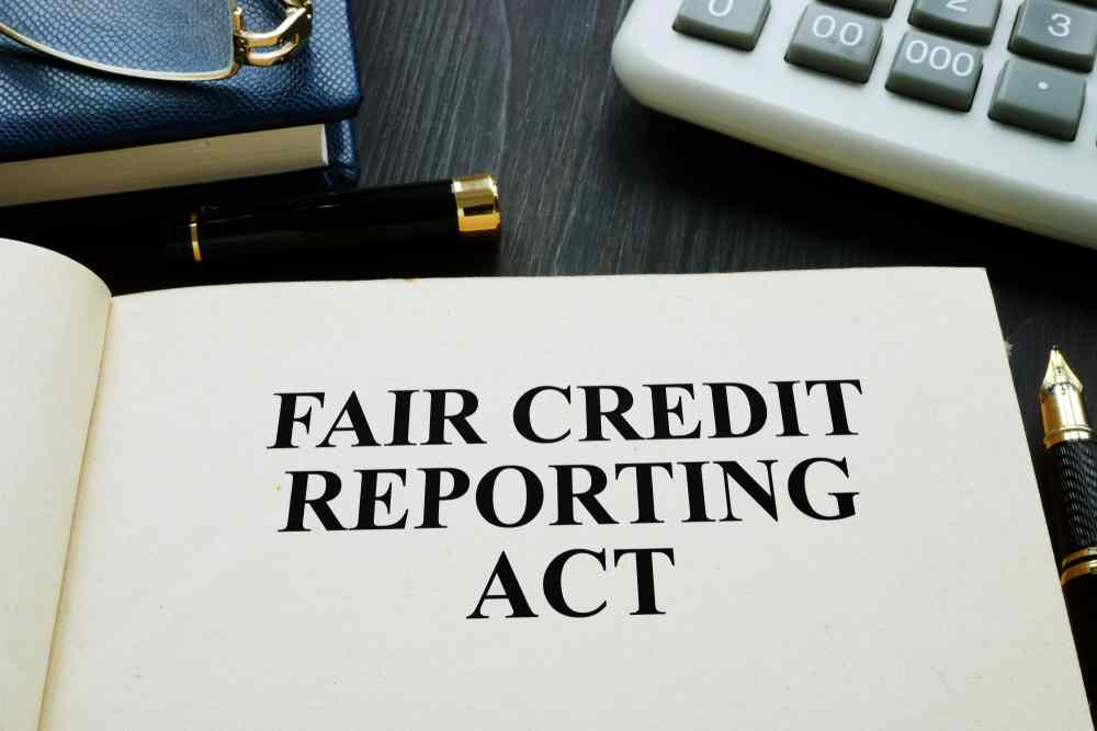 Fair Credit Reporting Act in a desk