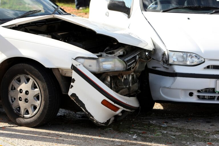 Vehicle accidents in road